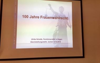 Vortrag 100 Jahre Frauenwahlrecht 2018